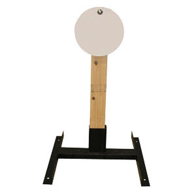 "LET 10"" Circle Wood Stand Static Steel Target"