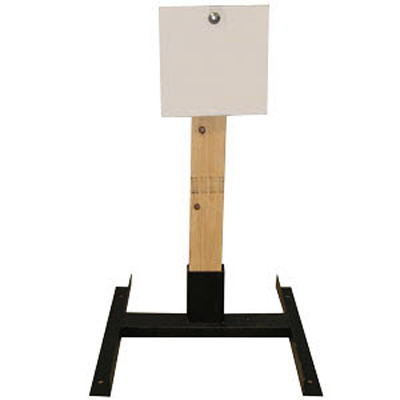 "LET 10"" Square Wood Stand Static Steel Target"