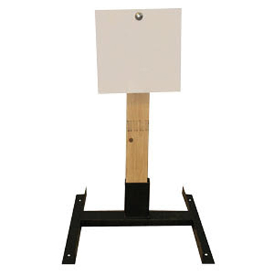 "LET 12"" Square Wood Stand Static Steel Target"