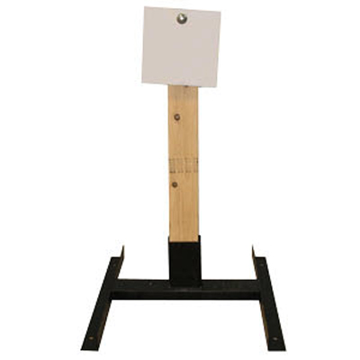 "LET 8"" Square Wood Stand Static Steel Target"