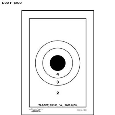 US Dept. of Defense A-1000 DCM Rifle/Carbine Target