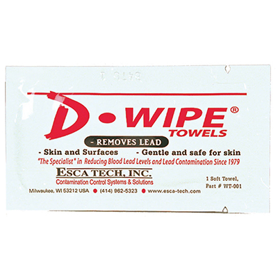 ESCA Tech D-Wipe Single Towelettes - Bulk Box of 500