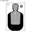 Milwaukee Co. (WI) Sheriff's Office TQ-19 Qualification Target w/ Vital Anatomy