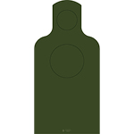 USAF Handgun Qualification Target