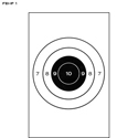 FBI Bull's-Eye Training Target