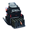 Handgunner Backpack w/Cradle for 4 Handguns (Black) - GPS BAGS