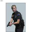 Female Officer w/ Gun Split Second Target