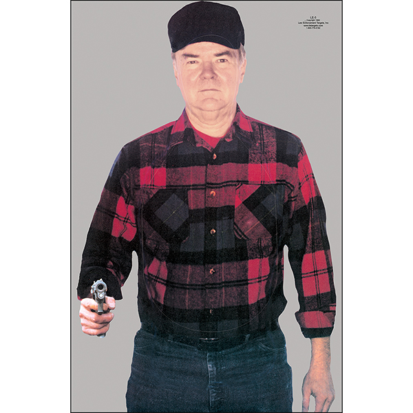 Man in Flannel Shirt w/ Gun Split Second Target