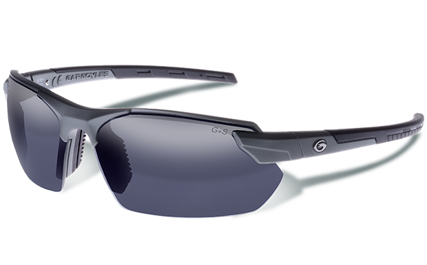 Vortex - Matte Metallic Graphite - Smoked Polarized with Silver Mirror - Gargoyles