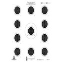 Official NRA Small Bore Rifle 50-Foot 4 Position Target (A-17)