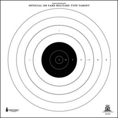 Official NRA 100-Yard High Power Rifle Slow & Rapid Fire Target (SR-1)