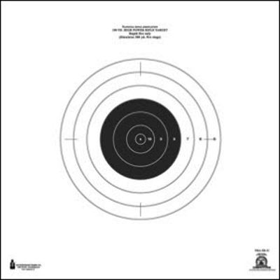 Official NRA 100-Yard High Power Rifle Rapid Fire Target (SR-21)
