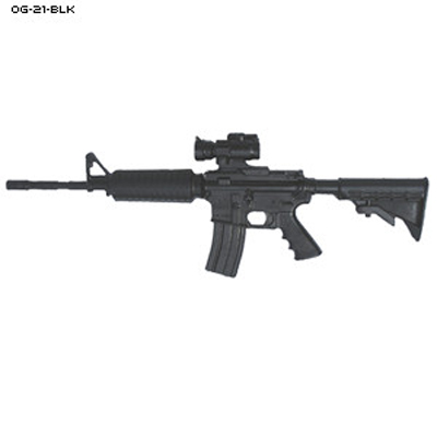 Black Plastic Training M4 Carbine and Scope