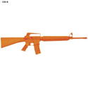Orange Plastic Colt AR-15