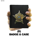 Sheriff Badge & Case Hand Overlay