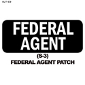 Federal Agent Patch Overlay