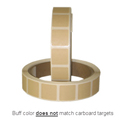 "Roll of 1000 7/8"" Square Target Paster (Buff)"