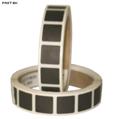 "Roll of 1000 7/8"" Square Target Paster (Black)"