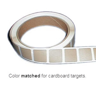"Roll of 1000 7/8"" Square Target Paster (Brown)"