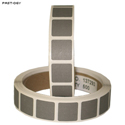 "Roll of 1000 7/8"" Square Target Paster (Dark Gray)"