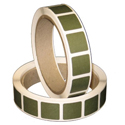"Roll of 1000 7/8"" Square Target Paster (Dark Green)"