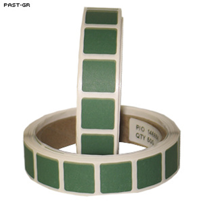 "Roll of 1000 7/8"" Square Target Paster (Green)"