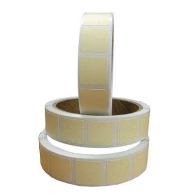 "Roll of 1000 7/8"" Square Target Paster (Ivory)"
