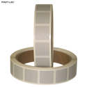 "Roll of 1000 7/8"" Square Target Paster (Light Gray)"