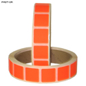 "Roll of 1000 7/8"" Square Target Paster (Orange)"