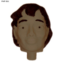 3D Plastic Target Female Replacement Head (Swarthy)