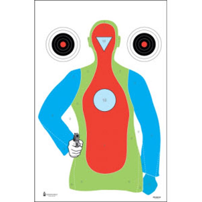 B 21 Police Shooting Targets Action Target: High Vi...