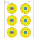 High Visibility Fluorescent 6 Bull's-Eye Target