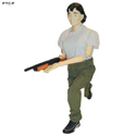 3D Plastic Full Body Female Target