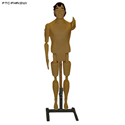 3D Plastic Full Body Female Reactive Target (Swarthy) w/ Stand