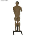 3D Plastic Full Body Reactive Target (Swarthy) w/ Stand