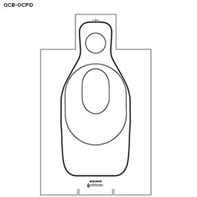 Oklahoma City PD Training Cardboard Target