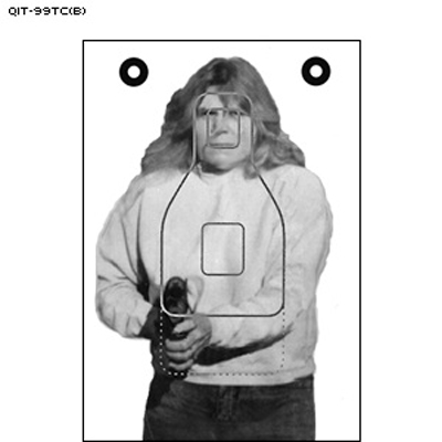 Maine State Police Modified QIT Photo Target (Version B)