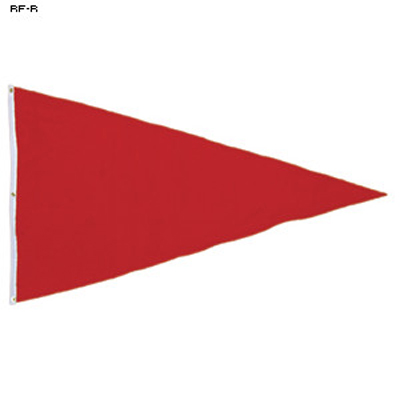 Pennant Style Shooting Range Safety Flag
