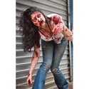 Real Life Zombie Target - Female in Front of Store Front