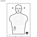 Stanislaus Co. Sheriff's Office Cardboard Target
