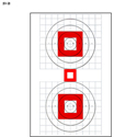 Two Bull's-Eye Rifle Sighting Target on Heavy Paper