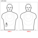 San Jose (CA) PD 2-Sided Shoot/No Shoot Cardboard Target