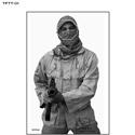Tactical Firearms Training Team Terrorist Target - Man w/ Rifle (B&W)