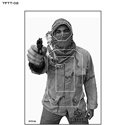 Tactical Firearms Training Team Terrorist Target - Man w/ Pistol (B&W)