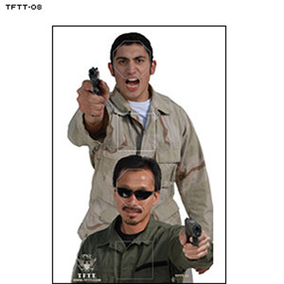 Tactical Firearms Training Team Terrorist Target - Double Pistol Threat