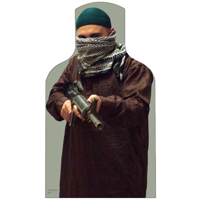 US Army TRADOC Die Cut Photo Terrorist Target (Version 6)