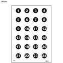 "Military 3"" Numbered Circles Command Training Target"