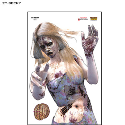 "Full Color ""Becky"" Zombie Target"