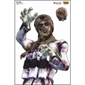 "Full Color ""Slim"" Zombie Target"