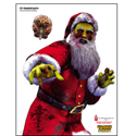 zt-zombie santa full color zombie shooting target